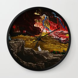 The Destruction of Sodom and Gomorrah landscape painting Wall Clock