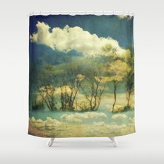 Summer Clouds Shower Curtain