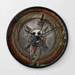The Shattered Skull Wall Clock