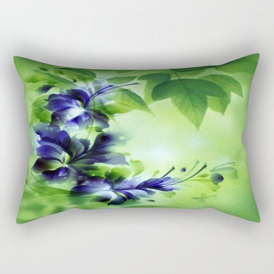 Cascading Bouquet Abstract Rectangular Pillow