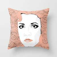 stevie nicks Throw Pillows featuring Stevie by IN SEARCH OF GOOD THINGS