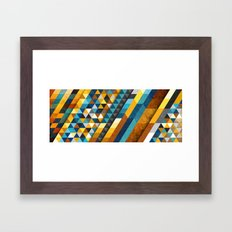 Geometric Sunset Panoramic Framed Art Print