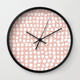 Dots / Pink Wall Clock
