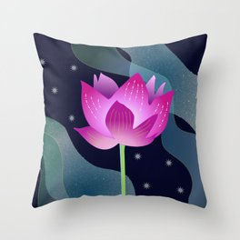 Star Lotus Throw Pillow