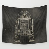 r2d2 Wall Tapestries featuring R2D2 by LindseyCowley
