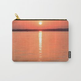 Long Sunset // Orange Yellow Sky Reflecting Off the Waves of the Water Carry-All Pouch