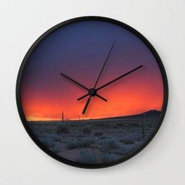 Colorful Horizons Wall Clock