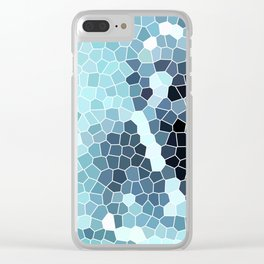 Turquoise Abstract Mosaic Art | Spring Clear iPhone Case
