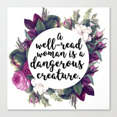 A well read woman Canvas Print