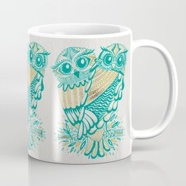 Owls – Turquoise & Gold Coffee Mug