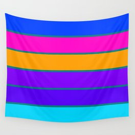 sTRIPES Colorful  Wall Tapestry