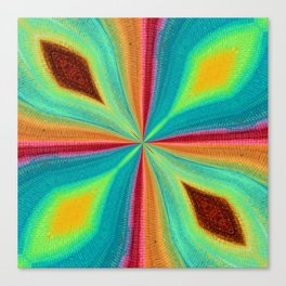 Abstract Art Colorful Flower Canvas Print