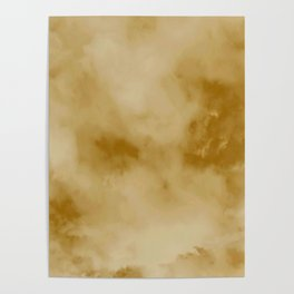 Yellow clouds Poster