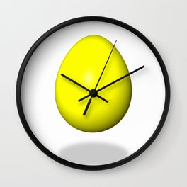 Egg Yellow Wall Clock