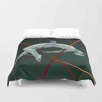 edm Duvet Covers featuring Dividendo Digital by Obvious Warrior