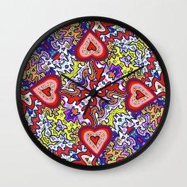 Hearts Afire Wall Clock