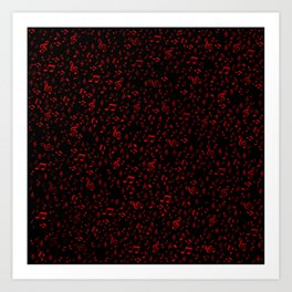 dark red music notes Art Print