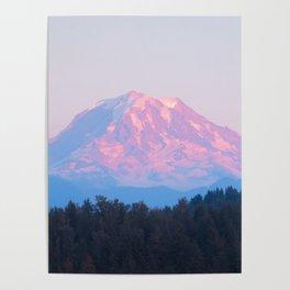 Mount Rainer Alpenglow Poster
