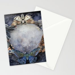 Moth Moon Stationery Cards