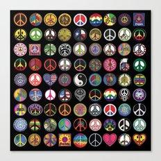 PEACE PATCH COLLECTION (black) Canvas Print
