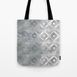 Silver glitter pattern on mother of pearl Tote Bag