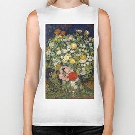 "Vincent Van Gogh ""Bouquet of Flowers in a Vase"" Biker Tank"