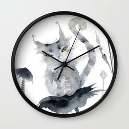Skuuter Silvermaw Slayer of Hearts Wall Clock