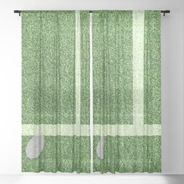 """IN"" – Hawk-Eye - green Sheer Curtain"