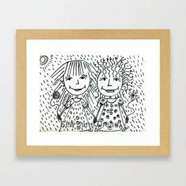 Love Life Laugh Framed Art Print