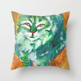 The Green Stalker #1 Throw Pillow