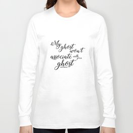 ghost (six of crows) Long Sleeve T-shirt
