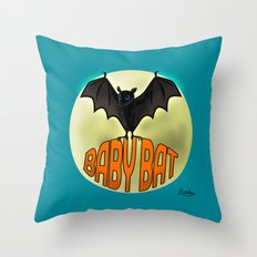 BABY BAT2 Throw Pillow