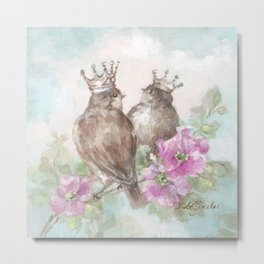 French Crown Songbirds II Metal Print