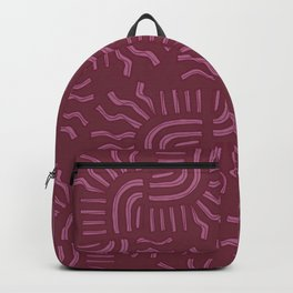 red abstract sun Backpack