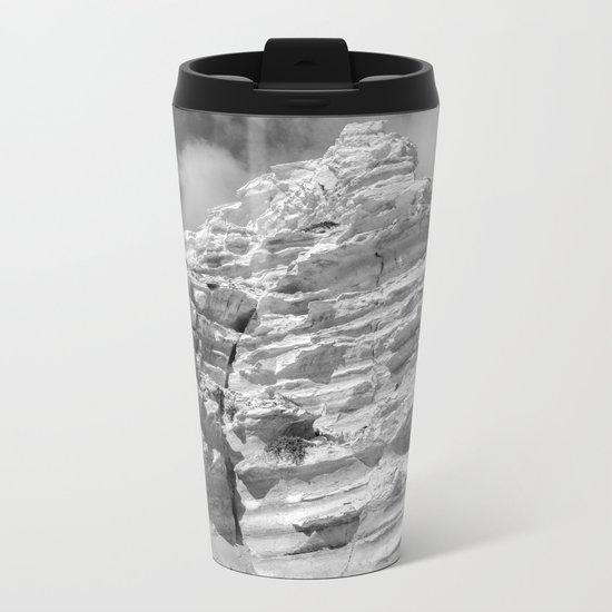 ISLAND STORIES 20 Rocky Black and White Metal Travel Mug
