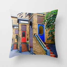 Stairs to Nowhere  -  Greenwich London Throw Pillow