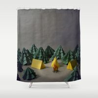 camp Shower Curtains featuring camp by Chelsea Gass
