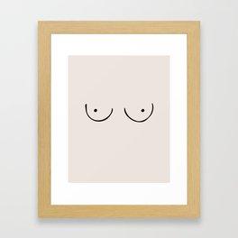 Boobs Framed Art Print