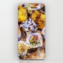 Sushi board - watercolor iPhone Skin