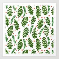Woodland Foliage Art Print