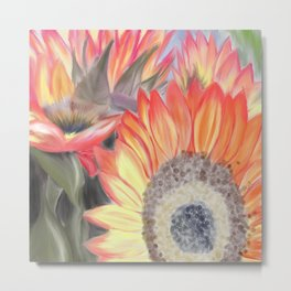 Fall Sunflowers Metal Print