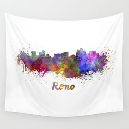 Reno skyline in watercolor Wall Tapestry