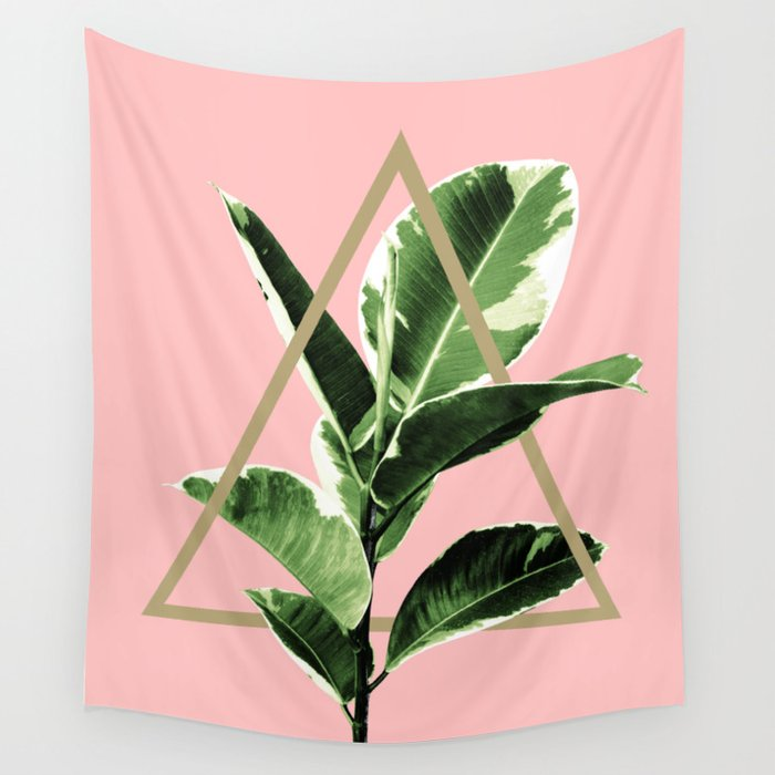 Ficus Elastica Geo Finesse #1 #tropical #foliage #decor #art #society6 Wall Tapestry