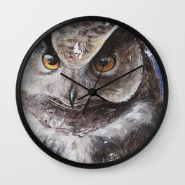 """The Owl - """"Watch-me!"""" - Animal - by LiliFlore Wall Clock"""