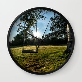 Country Comfort / Tree Swing Wall Clock