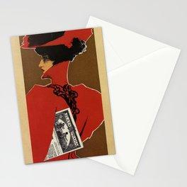 Golden Prague art nouveau Stationery Cards