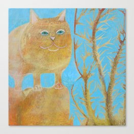 Fat 3 Legged Cat Canvas Print