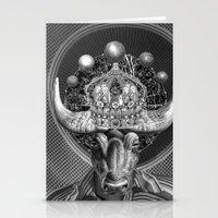 taurus Stationery Cards featuring TAURUS by Julia Lillard Art