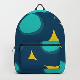Abstract Minimal Pattern Blue and Yellow Backpack