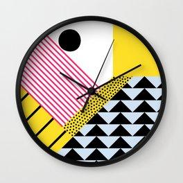 Memphis Design Pattern 2 Wall Clock